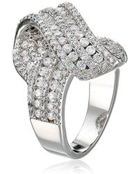 CZ by Kenneth Jay Lane - Trend Twist Front Cubic Zirconia Ring, Size 7, 6 Cttw - Lyst