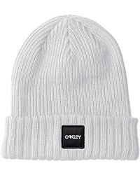 248d94b0012a Abercrombie & Fitch Logo Label Turn Up Rib Beanie In Light Grey Marl in  Gray for Men - Lyst