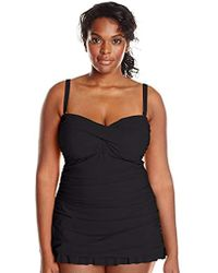 7e71cd8627aca Gottex - Plus-size Classic Bandeau Swimdress One Piece Swimsuit - Lyst