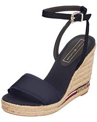 27be7218c Tommy Hilfiger - Iconic Elena Corporate Ribbon Platform Sandals - Lyst