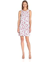 Kensie - Windy Roses Printed Sleeveless Dress - Lyst