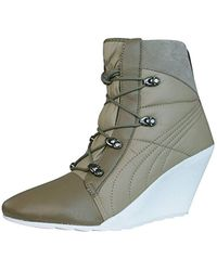 PUMA - Karmin Bellows Wedge S Boots - Lyst