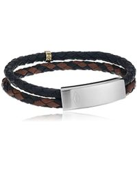Fossil - S Braided Double Strand Bracelet - Lyst