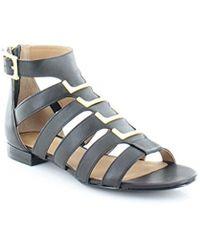 ec516aa2ea0e Lyst - Calvin Klein 205W39Nyc Estes Leather Sandal in White