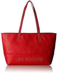Love Moschino - Borsa Grain Pu Tote - Lyst