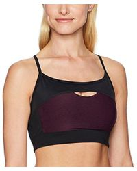 Calvin Klein - Performance Camisole Front Keyhole Bra With Removable Cups - Lyst