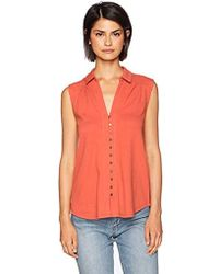 Lucky Brand - Button Up Tank Top - Lyst