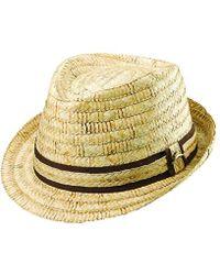 Tommy Bahama - Burned Raffia Fedora Hat - Lyst