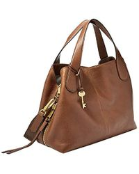 Fossil - Maya Satchel Brown - Lyst