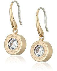 "Michael Kors - ""logo"" Crystal Drop Earrings - Lyst"
