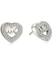Michael Kors - S Heart Stud Earrings, One Size - Lyst