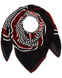 Tommy Hilfiger - Stripey Mascot Square Scarf, Blue (tommy Navy Mix 902), One Size (manufacturer Size: Os) - Lyst
