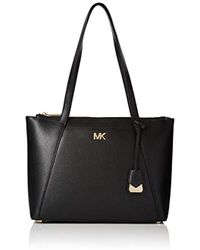 Michael Kors - Michael Metallic Maddie Medium Tote Bag Gold - Lyst