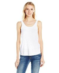Guess - Sleeveless Double Scoop Neck Tank - Lyst