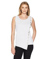 Rafaella - Misses Assymetrical Tank With Grommets - Lyst