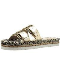3d39d68259c4 Lyst - BCBGMAXAZRIA Sabba Mirrored Thong Sandal in Metallic