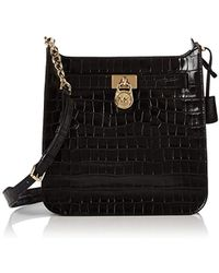 97d545f053c4 Michael Kors - S Hamilton Md Ns Messenger Top-handle Bag Black (black)