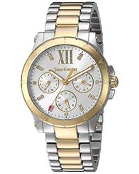 Juicy Couture - 'hollywood' Quartz Silver And Gold And Stainless Steel Casual Watch, Color:two Tone (model: 1901591) - Lyst