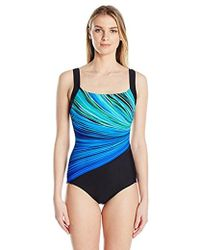 Reebok - Fire And Water Soft Cup One Piece Swimsuit - Lyst