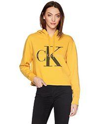 CALVIN KLEIN 205W39NYC - Pop Color Hoodie With Monogram Logo - Lyst