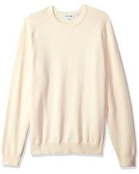 Lacoste - Long Sleeve Casual Elegance Premium Crew Sweater, Ah4544 - Lyst