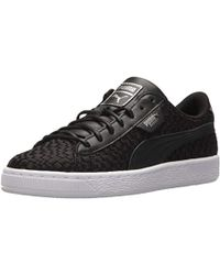 bbfb180ba6b9 Lyst - PUMA Basket Heart Ath Lux Sneakers in Black