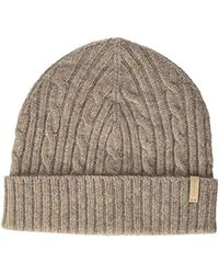 GANT - O2. Cable Knit Hat Beanie, (desert Brown), One Size - Lyst
