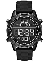 Skechers - 'open Fashion Digi' Quartz Metal And Silicone Casual Watch, Color:black (model: Sr5084) - Lyst