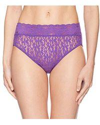 Wacoal - Halo Lace Hi Cut Brief Panty - Lyst