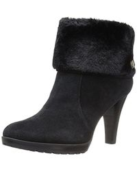 Anne Klein - Teamy Women Round Toe Suede Ankle Boot - Lyst