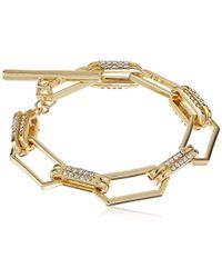 T Tahari - Crystal Pave Link Bracelet - Lyst