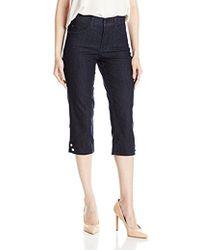 be124c80b0a46 Lyst - NYDJ Plus Size Novelty Ariel Crop Jeans in Blue