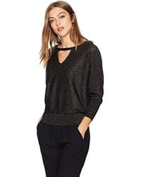 MILLY - Italian Shimmer Cutout Sweater - Lyst