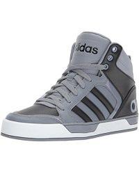 lyst adidas originali black neo - raleigh sneakers alte in nero