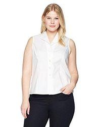 CALVIN KLEIN 205W39NYC - Plus Size Sleeveless Wrinkle Free Button Down Top - Lyst