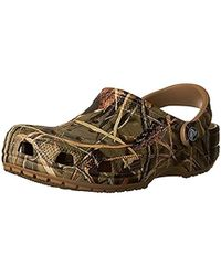 78d098977 Lyst - Crocs™ Swiftwater Deck Realtree Max-5 Clog in Brown