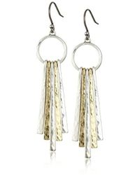 Lucky Brand - S Metal Paddle Earring - Lyst