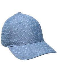 Lyst - Vince Camuto Denim Baseball Cap in Blue c835dd052134