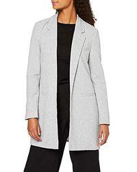 Vero Moda Vmjaney Ls Long Blazer Boo Suit Jacket - Gray