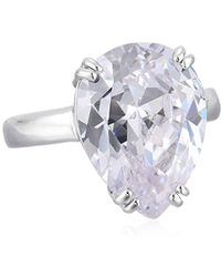 CZ by Kenneth Jay Lane - Pear Cz Prong Ring - Lyst