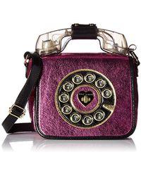 Betsey Johnson - Off The Hook Wireless Phone Bag Crossbody - Lyst