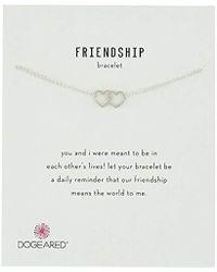 """Dogeared - Friendship, Linked Open Heart Chain Bracelet, 6""""+1"""" Extender - Lyst"""