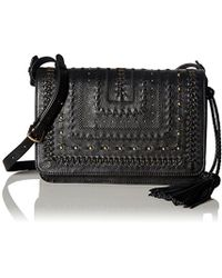 b40fa0a691 Lyst - Steven by Steve Madden Beaded Tassel Cross-Body Bag in Black