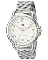 Tommy Hilfiger - 1781658 Casey Analog Display Japanese Quartz Silver Watch - Lyst