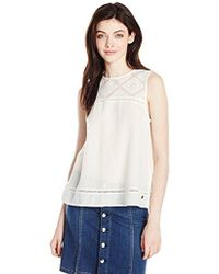 Roxy - The Sea Is Mine Sleeveless Woven Top - Lyst