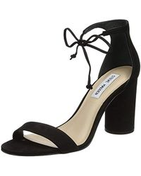 6ee9d5358b1 Franco Sarto Bauble High-heel Leather Sandals in Black - Lyst