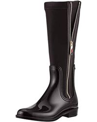 7cbab7e5ffafb Tommy Hilfiger - Material Mix Long Rain Boot High - Lyst