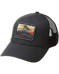 size 40 7bf75 77f8e buy quiksilver mens destril trucker baseball hat 57b32 f2d67  where can i  buy quiksilver ranger rice trucker hat lyst 880be a548c