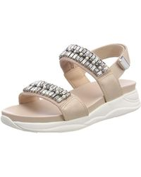 03ffa4750d18 ALDO Legaecia Metallic-striped Patent Sandals - Lyst