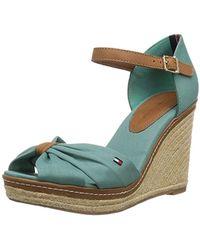 2001cbd9f217 Tommy Hilfiger E1285lba 39d Wedge Heels Sandals in Blue - Lyst